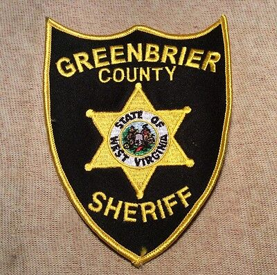 WV Greenbrier County West Virginia Sheriff Patch