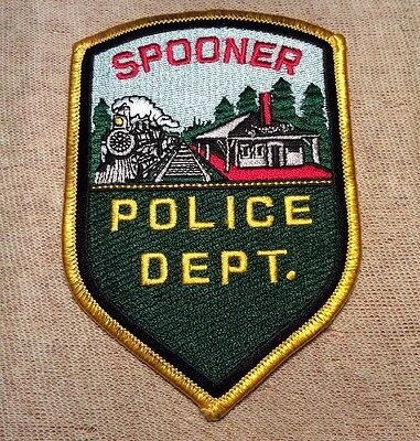WI Spooner Wisconsin Police Patch