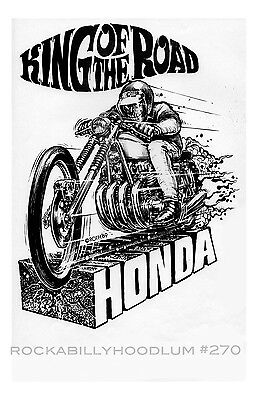New Hot Rod Poster 11x17 Ed Roth Art Honda King of the Road Motorcycle Race