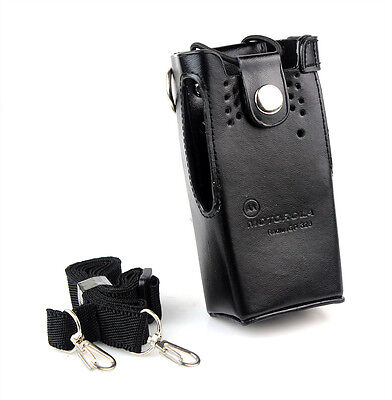 Hard Leather Case Cover Bag Holder for Motorola GP328/338 HT750 GP340 Radio as