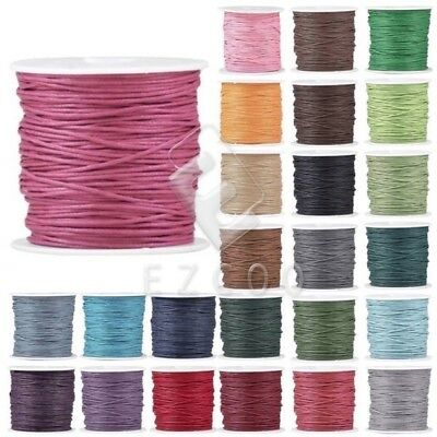 1 Roll 80M 2x2mm Waxed Cotton Macrame Cord Thread Rope Wire Findings Lots