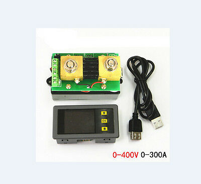 DC Wireless Voltmeter Ammeter Power Meter Capacity Coulomb Counter 400V 300A
