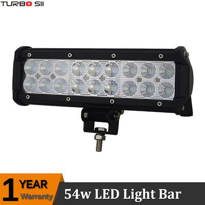 Cree 54W 10 inch LED Light Bar Driving Lamp for Offroad Jeep Trucks 4WD 4X4 UTE