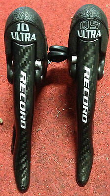 Comandi leve freno cambio Campagnolo Record 10 v Carbon shifters levers speed