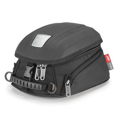 Givi MT504 Magnetic Thermoformed Motorcycle Tank Bag + Rain Cover - 5 Litres