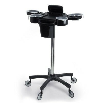 Aphrodite Professional Colour Station Trolley Salon Equipment Black