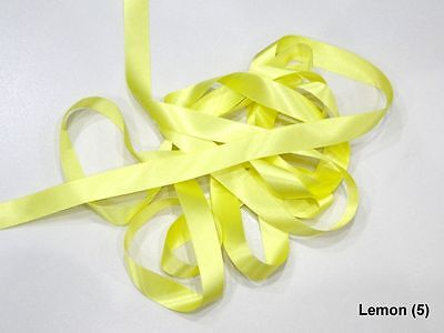 Berisfords Cornflower Yellow 10mm Double Sided Satin Ribbon 1m//5m//10m//20m//100m
