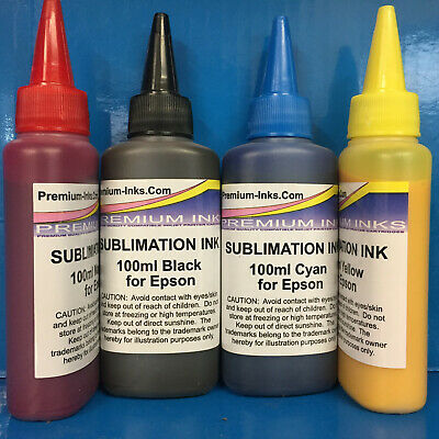 4x100ml Sublimation Heat Transfer Refill Ink for use with Epson Printer Non OEM