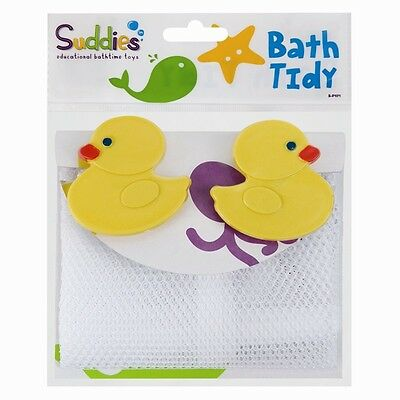 Assorted Baby Bath Time Tidy Net Bag Sets Suction Cup Toys Fun Organiser Storage