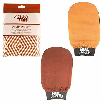 Skinny Tan Exfoliating Mitt Glove False Fake Tanning Remover Skin Preparation
