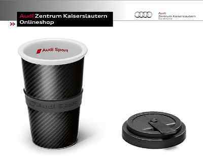 Audi Sport Collection Cup Carbon Look Coffee Cup Drinking Cup 3291501000 Cup