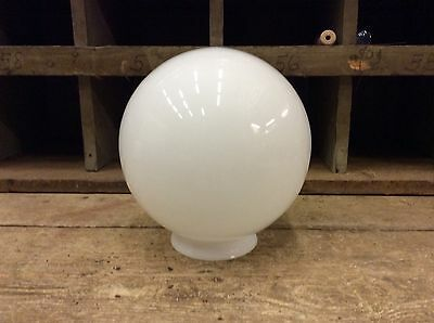 NICE VINTAGE White Glass Wide Globe Ceiling Fixture Lamp Post Light Fan-8