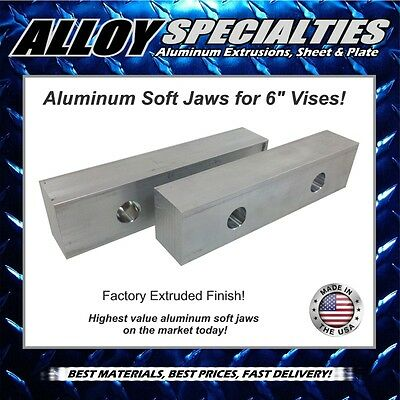 "8 x 2 x 1.5 Machined Aluminum Vise Soft Jaws For Kurt 6/"" Vises 8x2x1.5 FREE SHIP"
