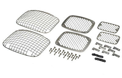 Billet & Wire Mesh Light Guards Polished Stainless Steel Jeep Wrangler YJ 87-95