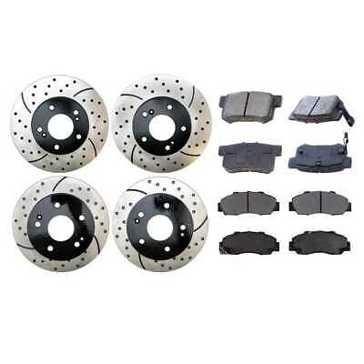 Brake Pads And Rotors Prices >> Front Rear Set Drilled Slotted Rotors Brake Pad Fits 97 98