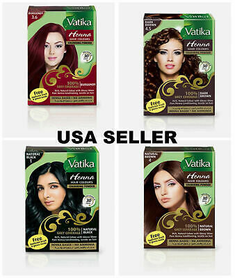 Dabur Vatika Henna Powder Best Hair Color Dark Natural Brown