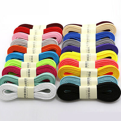 THICK FLAT FAT SHOE LACES Wide Shoelaces All Shoe Types Trainer Boot Shoes Tools