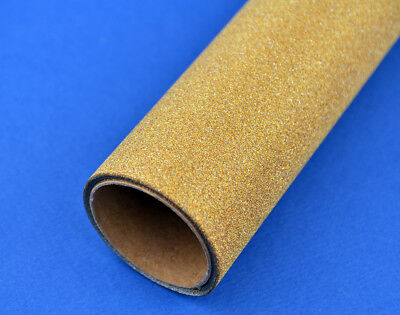 2m Gold Fine Glitter Film Roll for Paper Crafts | Gift Wrap | Christmas Hampers