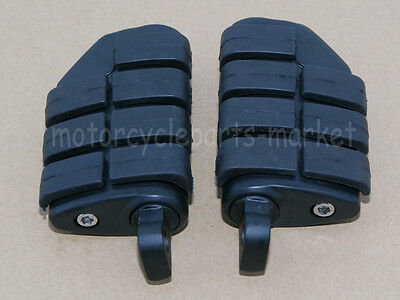 Black Foot pegs Footpegs For Harley Davidson Softail Sportster Dyna Touring New