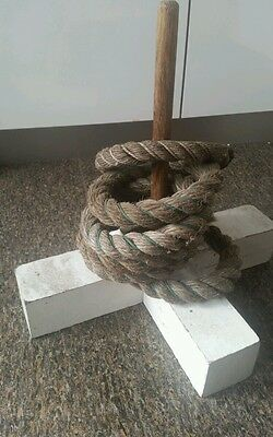 Antique Vintage Old Game Quoits Outdoor Family Fun