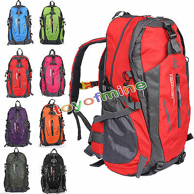 40L Outdoor Hiking Bag Camping Travel Waterproof Mountaineering Backpack Rucksac