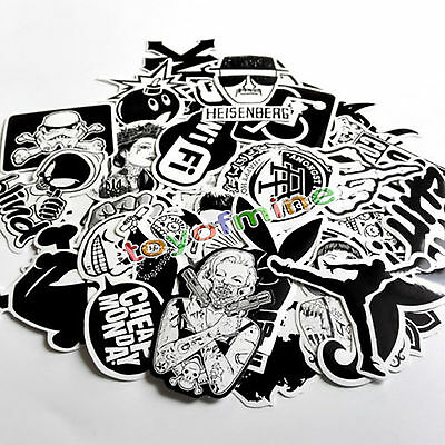 Skateboard Sticker Lot 60pcs Skateboard Vinyl Sticker Skate Graffiti Laptop Car