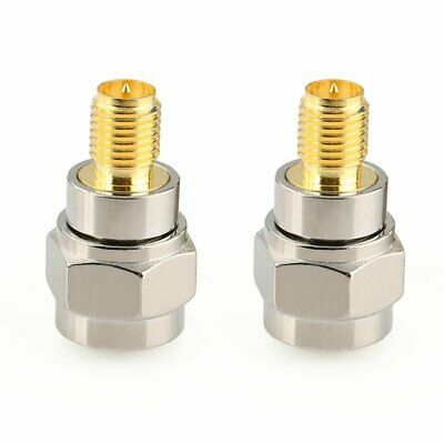 2pcs F male plug to RP-SMA female plug center RF coaxial connector adapter