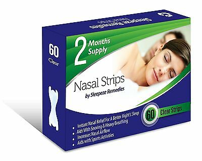 Nasal Strips Large Clear (60 Strips/0.21 each) by Sleepeze Remedies - PREMIUM...