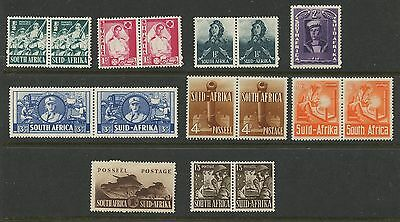 South Africa 1942-43 Second War issue complete Sc #90- 97 mlh
