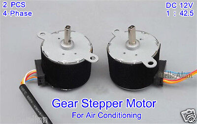 2PCS DC 12V 4-Phase 5-wire Gear Stepper Motor Permanent Magnet Stepping Motor