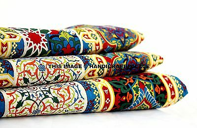 Cotton Voile White Indian Hand Block Print Sewing Material Craft By The Yard
