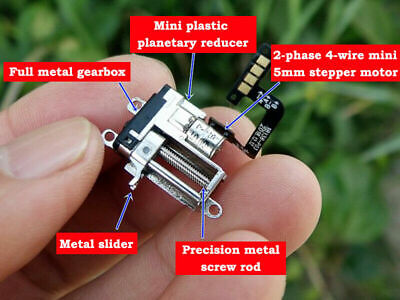 Mini 5mm 2-phase 4-wire 3V 5V Planetary Gear Stepper Motor linear Screw Slider