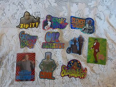 Vintage Vending Machine Stickers Austin Powers 1999 The Spy Who Shagged Me Movie