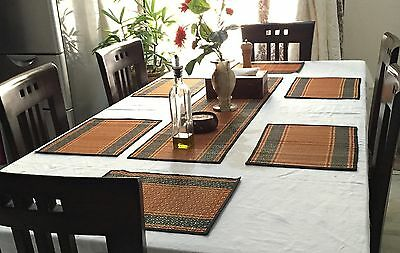 Dinner Decor Placemats Table Mats 6 Pcs Reversible Handmade Kitchen Accessories