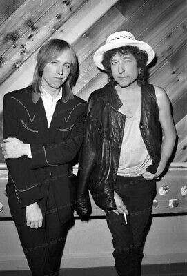 8x10 Print Bob Dylan Tom Petty 1986 #BD02