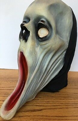 1995 The Paper Magic Group Rubber Scary Halloween Mask Scream Adult Size