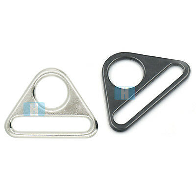 25mm 38mm Metal Adjuster Triangle Dee Ring Swivel Clip with Bar Buckles Belt