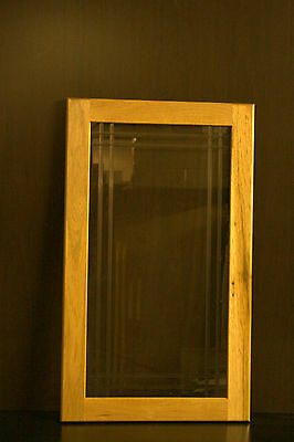 "Kraftmaid Kitchen Honey Spice Hickory Glass Door For 18""X30"" Wall Cabinet"