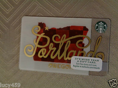 Starbucks Newest  PORTLAND Gift Card - released 2016