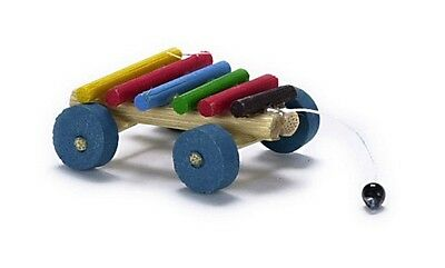 Pull Along Toy Xylophone, Dolls House Miniature, Nursery Accessory, 1.12 Scale