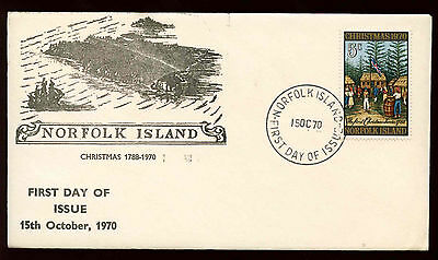 Norfolk Island 1970 Christmas FDC First Day Cover #C13908