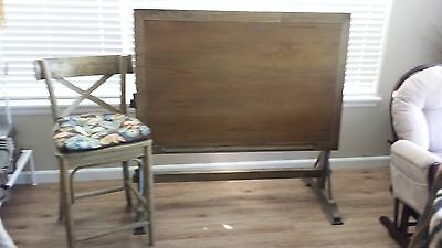 Solid Wood Drafting Table w/ matching chair