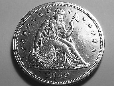1849 Seated Liberty Dollar  No Motto * Choice BU with Clean surfaces *