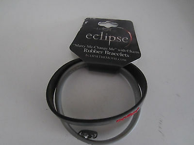 The Twilight Eclipse Marry Me Change Me With Charm Rubber Bracelets