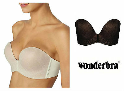 Wonderbra Ultimate Lace Magic Hands Silicone Dot Bra W034T Ivory or Black * NEW