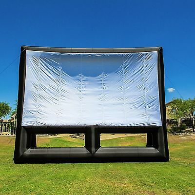 New Infl8 brand 30 X 17 foot Inflatable Movie Screen Front and Rear Projection