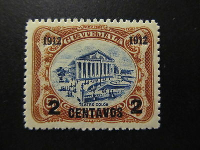 1912 - Guatemala - Surcharged In Black - Scott  148 A34 2C On 50C