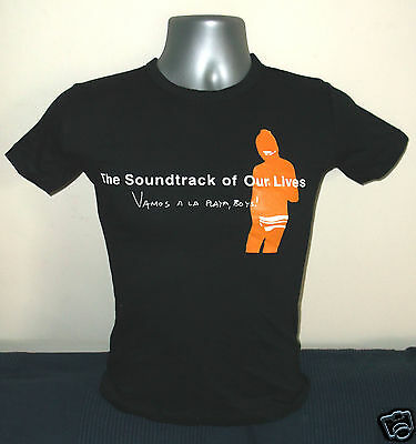 SOUNDTRACK OF OUR LIVES Vamos A La Playa Boys girls black T-shirt NEW/UNWORN