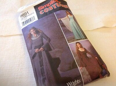 Renaissance Costume Collection Simplicity Pattern 9891 Size 6 To 12 HH
