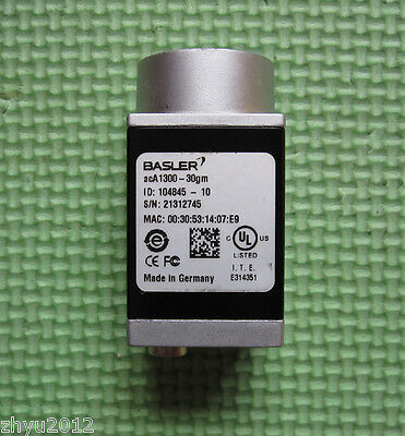 1PC Used Basler aca1300-30gm Industrial camera Tested